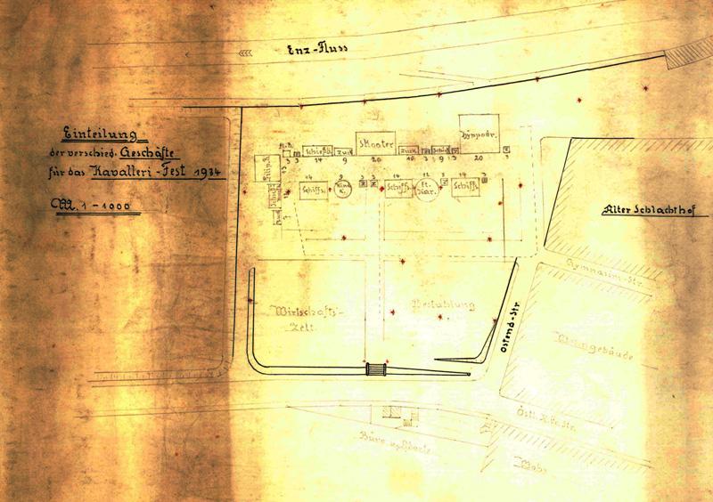 Historischer Lageplan 1934