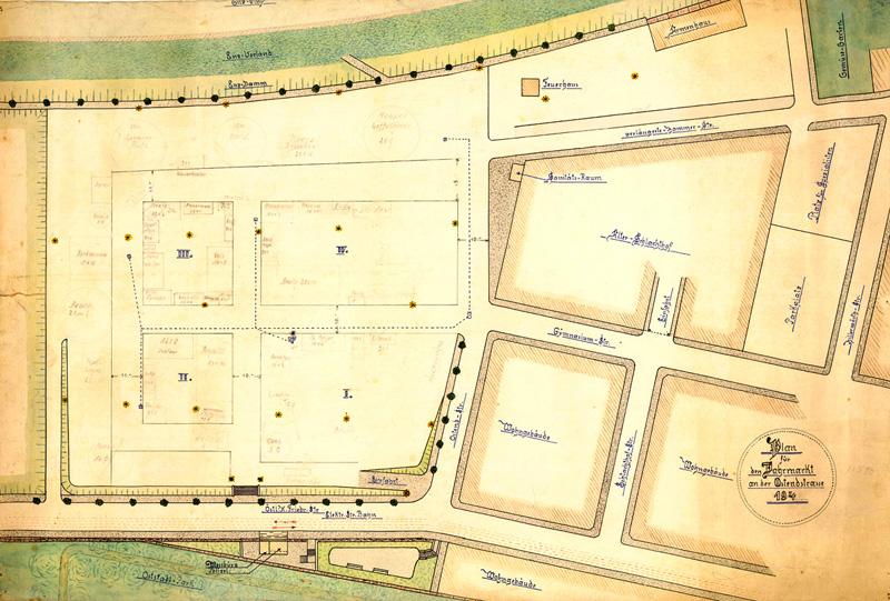Historischer Lageplan 1946