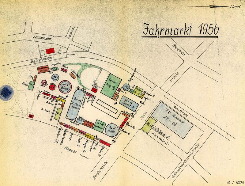 Historischer Lageplan 1956
