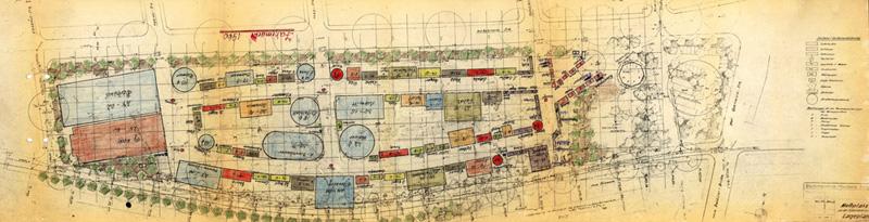 Historischer Lageplan 1960